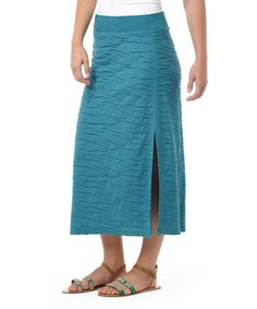 Look at this #zulilyfind! Deep Blue Green Samba Wave Organic Skirt by Horny Toad #zulilyfinds Wish I knew the color for certain.