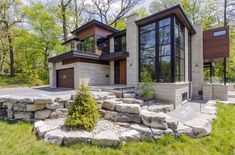 another view of my favorite exterior. 15 Compelling Contemporary Exterior Designs Of Luxury Homes Youll Love Luxury Homes Exterior, Modern Exterior, Exterior Design, Cafe Exterior, Restaurant Exterior, Exterior Signage, Craftsman Exterior, Grey Exterior, Minimalist House Design