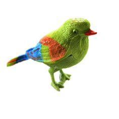 Control de voz de Simulación Musical Pájaro pájaro Lindo Cantar Canción decoraciones Jaula pájaro de juguete muñeca mascotas Electrónicas juguetes Pájaros de La Mañana