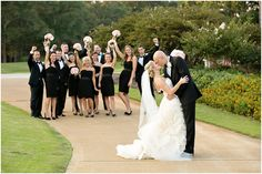 Wedding Party Picture....except make sure the guy in the back right looks a little happier. ;)