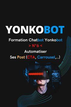 🤖 Nouvelle vidéo de la formation Chatbot Yonkobot N°6 ! 👉   Nous verrons comment automatiser ses Post (Calendrier, répétitions,..) 👉 Quels sont les formats de Post disponibles, par exemple, le CTA.👉    Les Post CTA permettent d'introduire un bouton d'appel à l'action.👉   Disponibles en créant une publicité, ils sont inclus et gratuits dans Yonkobot👉   🤖 Permettant une meilleure interaction & conversion, c'est un atout majeur dans une stratégie de contenu.... #chatbot #automatisation… Formulaires Web, Growth Hacking, Facebook, Conversation, Hacks, Engagement, Acquisition, Applications, Questionnaires