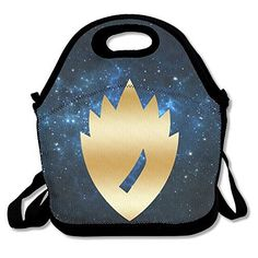 Guardians Of The Galaxy Sym Gold Logo Travel Tote Lunch Bag -- Want additional info? Click on the image. (This is an affiliate link) #TravelTotes