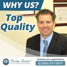 With Dr. Bouzoghlanian's supreme attention to detail, you can depend on the comfort, beauty, and quality of his techniques! Our Pasadena dentist, Dr. B, is extremely meticulous in his treatment methods and takes pride in work. All materials used for treatment are of the highest quality. He uses only dental laboratories located in the USA for the design and manufacture of crowns, veneers, dentures, and other prosthetics. All items are personally inspected by Dr. B prior to approval.