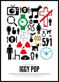 Pictogram Rock Posters: Iggy Pop