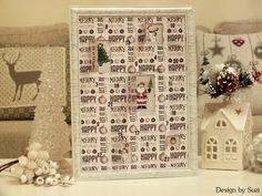 Design by Suzi Diy Advent Calendar, Merry, Decorations, Holiday Decor, Happy, Design, Home Decor, Decoration Home, Room Decor