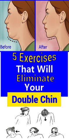 5 Exercises That Will Eliminate Your Double Chin - Women Daily Magazine Fitness Tips, Health Fitness, Fitness Routines, Fitness Motivation, Double Menton, Natural Gel Nails, Beauty Games, Double Chin, Anti Aging Treatments
