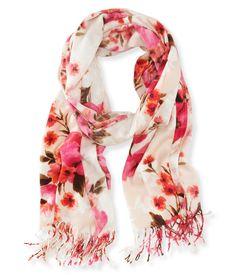 Floral Scarf from Aeropostale Cute Scarfs, Pink Scarves, Aeropostale, Hijab  Fashion, Fashion 23a71e8189d0