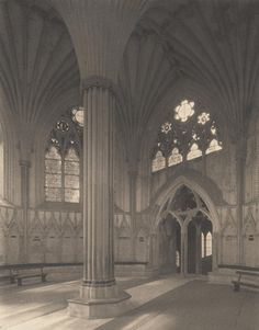 Wells Cathedral: Chapter House Interior | Frederick H. Evans