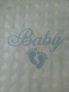 Baby boy minky custom embroidered blanket