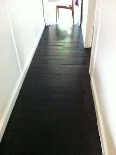love painted black floors..try using black stain..it works great! did my bath remodel this way