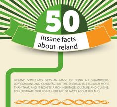 Thanks to our friends at competitions.ie for sending over this fantastic Ireland infographic! It's not just about leprechauns and pots o' gold, my friends. 50 Insane Facts About Ireland [Infographic] by the team at Competitions.ie Read More About Irish Culture Plan a Trip to Ireland Request a Quote