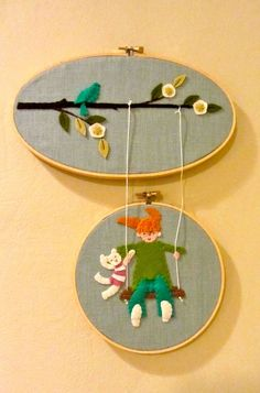 Cute hoop art.