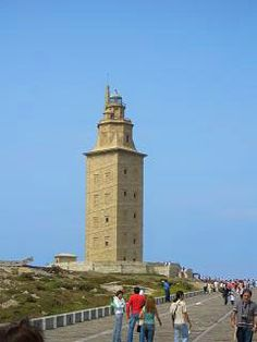 la Coruna, Spain. The oldest lighthouse in the world.