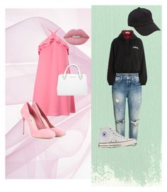 """2 types of girls"" by zelihagunes on Polyvore featuring Vetements, Converse, Miss Selfridge, Miu Miu, Michael Kors, Lime Crime and rag & bone"