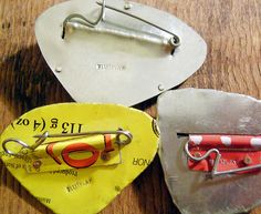 brooch backs using paperclips shaped into pins by fluxplay, via Flickr