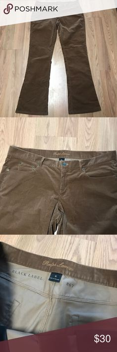 New Ralph Lauren Black Label Caramel Cord Pants 14 New Ralph Lauren Black Label caramel colored Corduroy Pants Sz 14. These are new without tags and have gold stuffed Bling on the rear pocket. Waist 38 Inseam 32 Ralph Lauren Black Label Pants Trousers