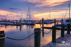 Sunset over the Fernandina Beach Marina, Downtown Fernandina Beach, Amelia Island, Florida