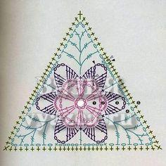 Delicadezas en crochet Gabriela: 23 Patrones Gratis de Motivos triangulares en crochet Crochet Motif Patterns, Granny Square Crochet Pattern, Square Patterns, Crochet Diagram, Crochet Chart, Crochet Squares, Crochet Granny, Crochet Stitches, Crochet Wool
