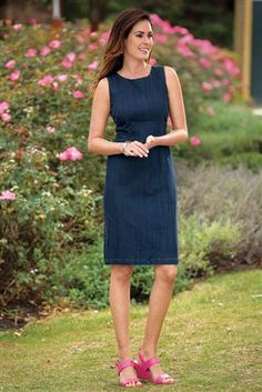 Denim-Sheath-Dress