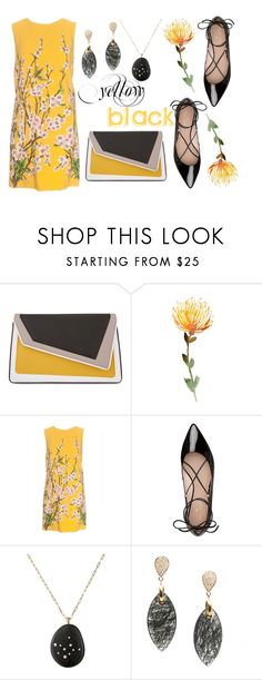 """""""Yellow and Black"""" by des4etoo ❤ liked on Polyvore featuring âme moi, Dolce&Gabbana, Kate Spade, Venyx and Tresor"""