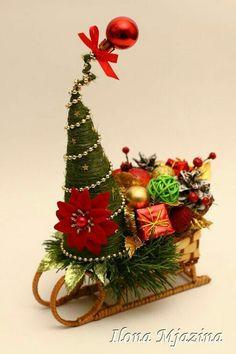 Centro de mesa navideña