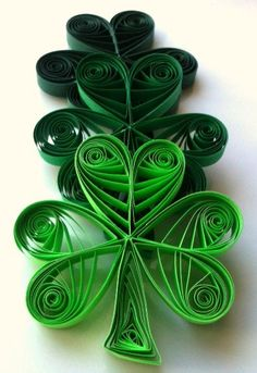 St. Patrick's Day quilled Shamrock Ornament Set of Six. $ 17, by WintergreenDesign via Etsy.
