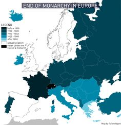 End of monarchy in Europe