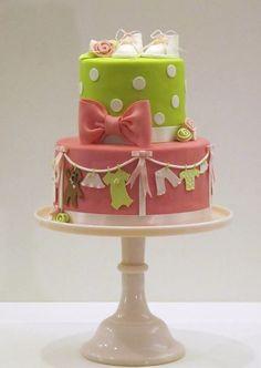 bolo para cha de bebe para menina
