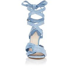 Altuzarra Women's Zuni Eel-Skin Sandals ($1,295) ❤ liked on Polyvore featuring shoes, sandals, heels, ankle wrap sandals, ankle tie sandals, long sandals, ankle strap heel sandals and wrap sandals