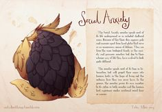 These are beautifully done illustrations and descriptions- Mental Illnesses Taking the Form of Real Monsters