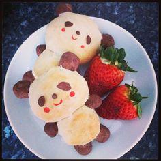 Panda bread buns