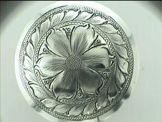 Cowboy Engraving - SCARF SLIDES