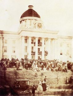 1861 – In Montgomery, Alabama, Jefferson Davis is inaugurated as the provisional President of the Confederate States of America | ... 18, 1861: Jefferson Davis Inaugurated as Confederate President
