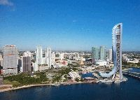 Workers may break ground on developer Jeff Berkowitz' 1,000-foot SkyRise Miami tower this month -- if a proposal from the Miami City Commission is approved.  The commission hopes to get construction started before height approval from the Federal Aviation Administration expires in June, acco