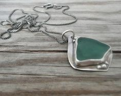 Summer Fashion, Beach glass necklace by LjBjewelry