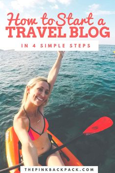 If you have ever thought about starting your own blog, or wondered how exactly to get started, then this post is for you! This post breaks down into 4 simple steps how you can get started and includes discounts on the products and tools I personally use and recommend. #thepinkbackpack #travelblog #blogging Travel Tips, Budget Travel, Travel Destinations, Student Travel, Travel Products, Writing Resources, Discount Travel, Travel Images, Culture Travel