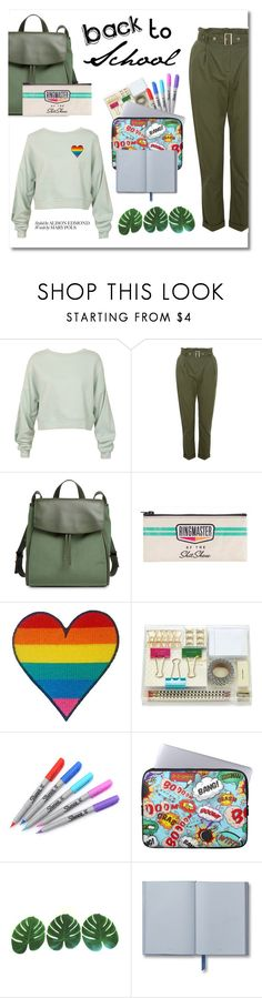 """SCHOOL ESSENTIALS"" by taliafzl ❤ liked on Polyvore featuring Sans Souci, Skagen, Blue Q, Kate Spade, Sharpie, school and schooloutfit"