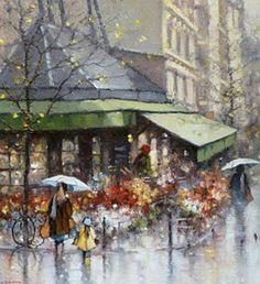 Morning in Saint Germain Paris | Morpeth Gallery