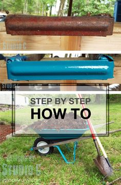 Don't throw out that old wheelbarrow; it can be fixed! Here is a step-by- step how-to on fixing up rusted metal.