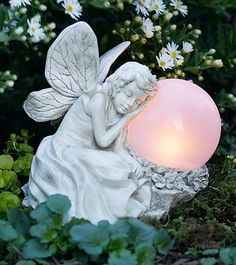 Nature inspired fairy dolls and fairy gardens! Charming fairy houses and accents for playspaces. Shop our full collection of fairy dolls, books, and costumes! Garden Angels, My Fairy Garden, Night Garden, Moon Garden, Dream Garden, Fairy Gardens, Fairy Statues, Fairy Figurines, Angel Statues