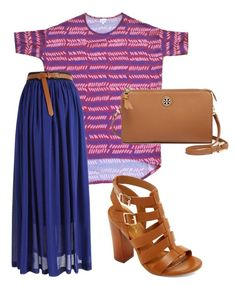 A LuLaRoe Irma is a versatile piece. By pulling one of the colors in the top and matching it to a maxi skirt, you've got a perfect match. Add nude accessories for a classy and easy look.