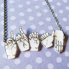 Handsign Sign Language Series No. 3 DREAM by shupg on Etsy... I love it!!! :)