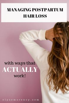 Managing postpartum hair loss with ways that ACTUALLY work! All about what postpartum hair loss is, reasons for postpartum hair loss, and how to manage postpartum hair loss Hair A, Grow Hair, Postpartum Hair Loss, Postpartum Recovery, Sugar Bear Hair, Dramatic Hair, Good Shampoo And Conditioner, How To Grow Your Hair Faster, Makeup For Moms