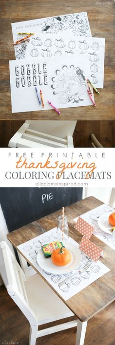 Free Printable Thanksgiving Coloring Placemats