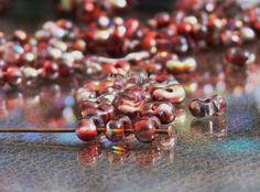 Magic Raspberry Farfalle Czech Glass Beads 6x4mm 100 by simplypie