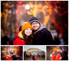 chicago winter lincoln park zoo twinkle lights holiday christmas nye engagement session liesl diesel photo
