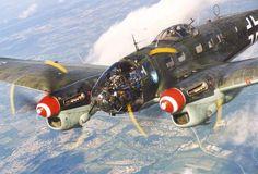 Heinkel He 111 medium bomber.