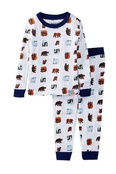 The World of Eric Carle Bear Print Pajama Set (Baby Boys) by Intimo on @nordstrom_rack