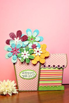 Flower pot card with pull out tag.  http://www.myscrapchick.com/product.cfm?product=634