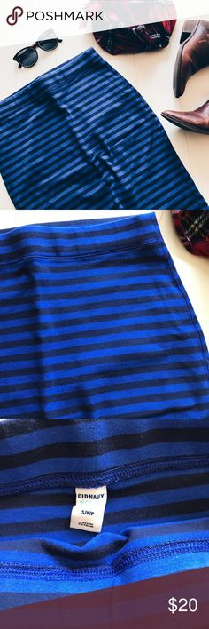 Old Navy - Blue Striped Skirt In EUC, blue striped skirt from Old Navy! Stretchy cotton material. Wore a few times during my pregnancy. No longer need or wear. Perfect all year around! No tears, snags, or stains. Offers welcomed! Old Navy Skirts